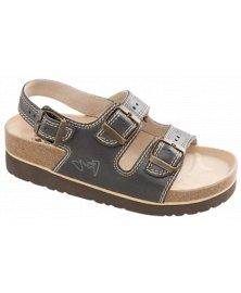 SKT2 - sandály na klínku, černá, různé velikosti