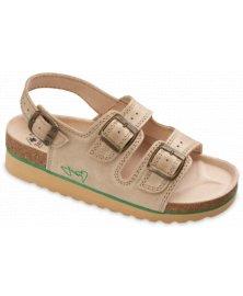 SKS2 - sandály na klínku, béžová, různé velikosti