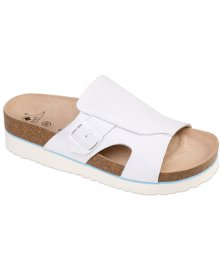 Milano - zdravotní pantofle na klínku, bílá, různé velikosti