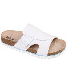 Milano - zdravotní pantofle, bílá, různé velikosti