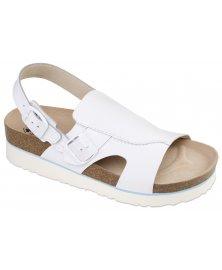 Milano - sandály na klínku, bílá, různé velikosti