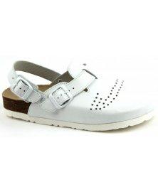 Trento - sandály rovné perforované, bílá, různé velikosti