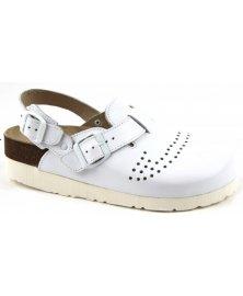 Trento - sandály na klínku perforované, bílá, různé velikosti