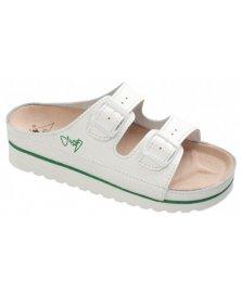 CPK2 - zdravotní pantofle celoobšité na klínku, bílá, různé velikosti