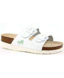 PK2 - zdravotní pantofle na klínku, bílá, různé velikosti