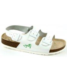 SR2 - sandály rovné, bílá, různé velikosti