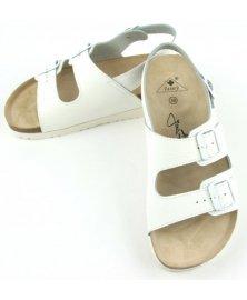 SK2 - sandály na klínku, bílá, různé velikosti