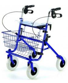 Čtyřkolové skládací chodítko pro seniory s nákupním košíkem