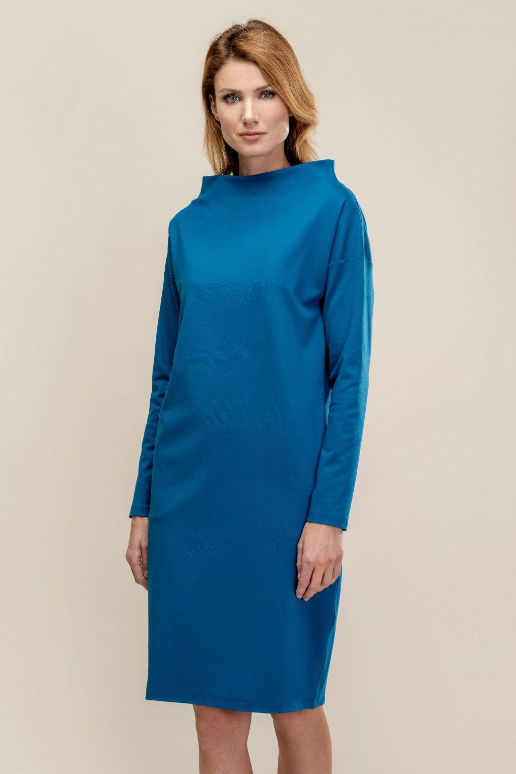 ZIK Šaty so zvýšeným lodičkovým výstrihom (1)