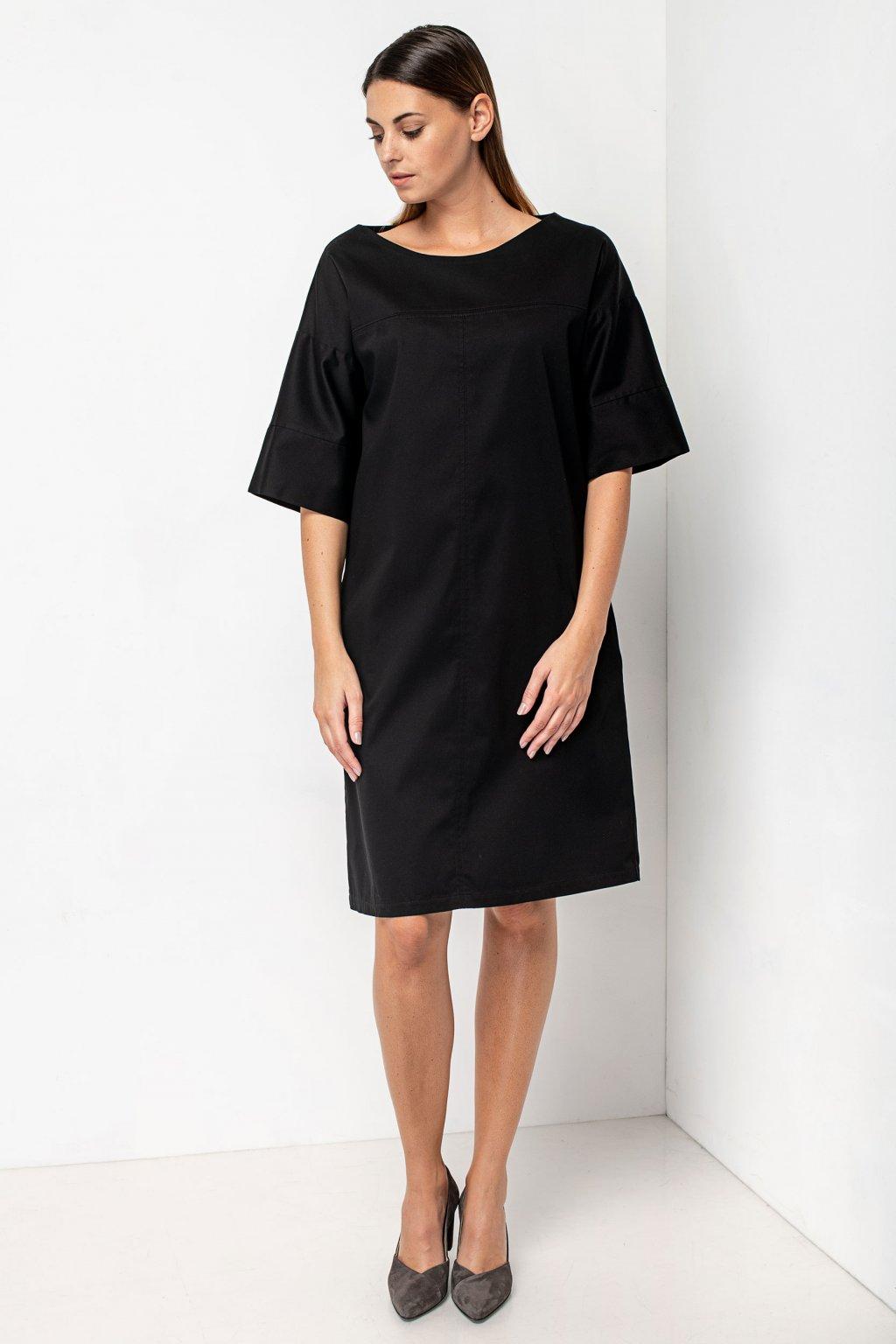 ZIK Šaty so štepovanými švami čierne (2)