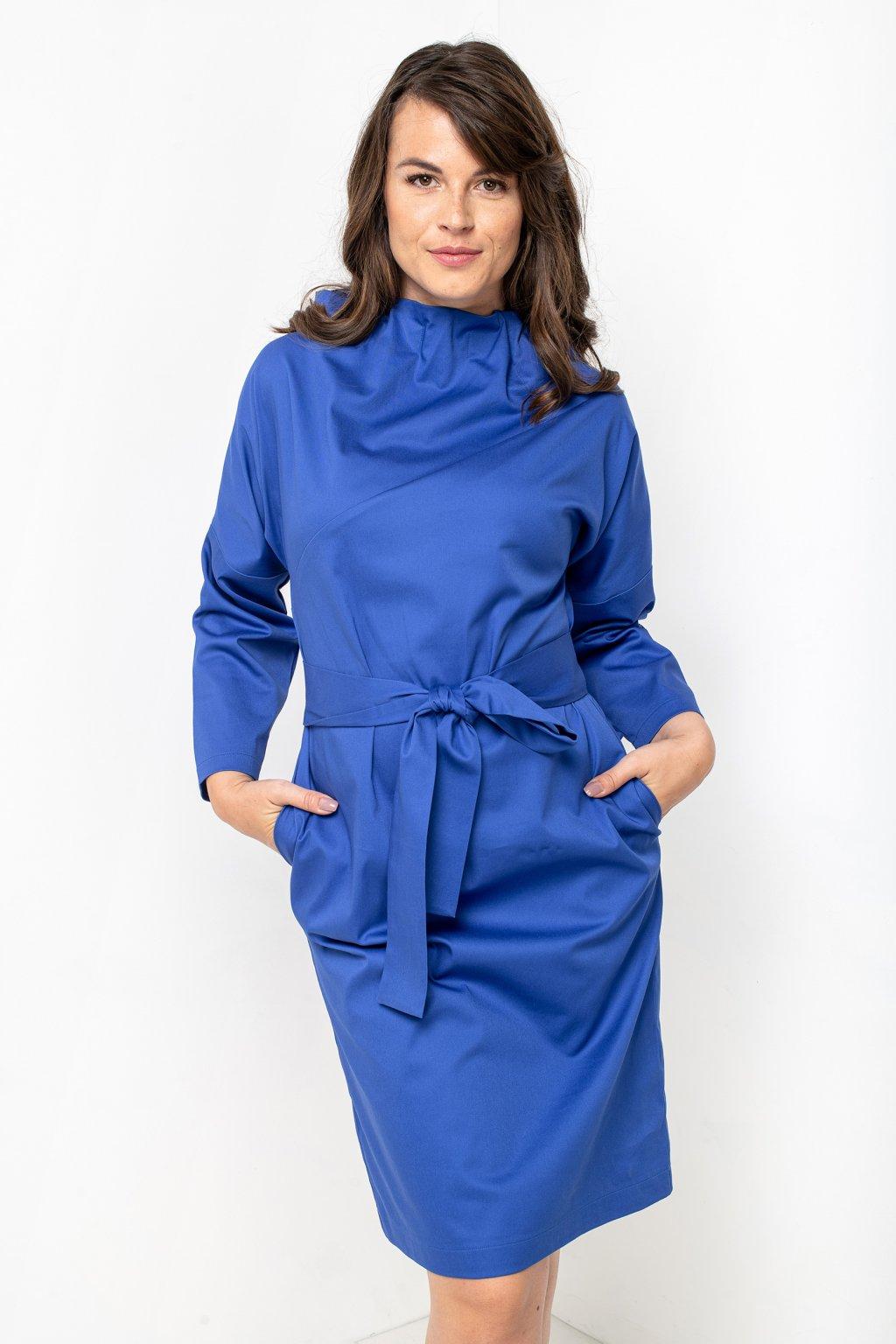 ZIK Šaty s nariaseným rolákovým výstrihom a dlhým rukávom