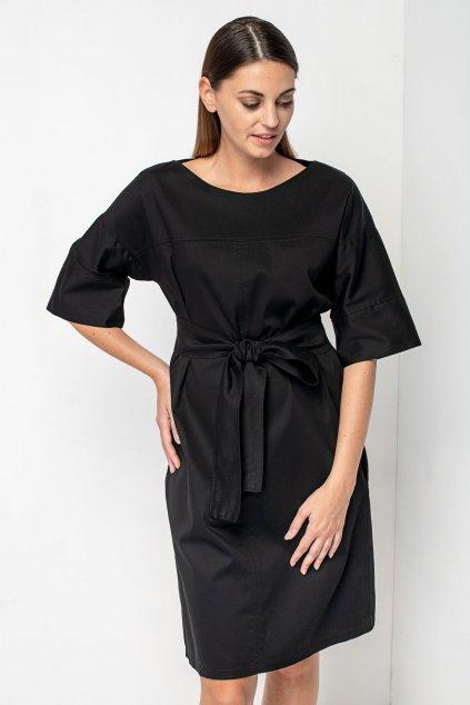 ZIK Šaty so štepovanými švami čierne (7)