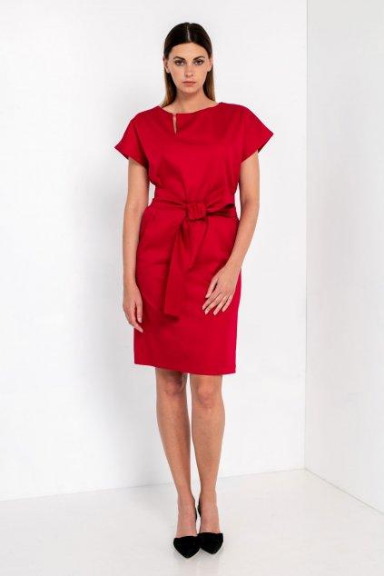 ZIK Šaty s asymetrickým výstrihom bez rukávov (4)
