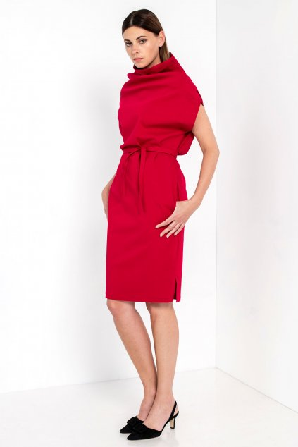 ZIK Asymetrické šaty červené (1)