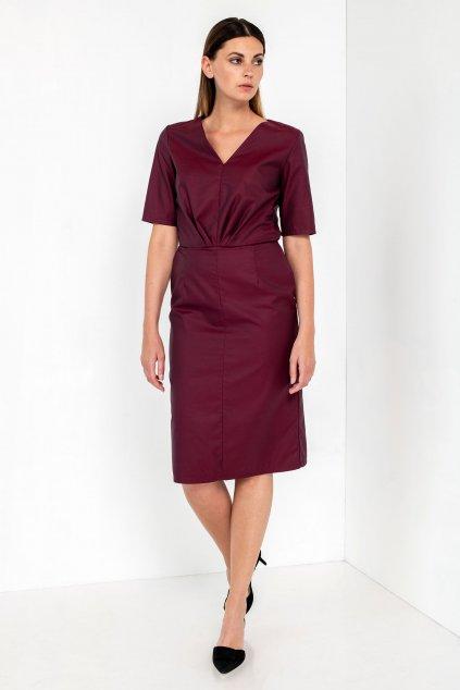 ZIK Šaty so stredovými záhybmi v páse (1)