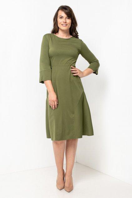 ZIK Šaty s godetmi olivovozelené