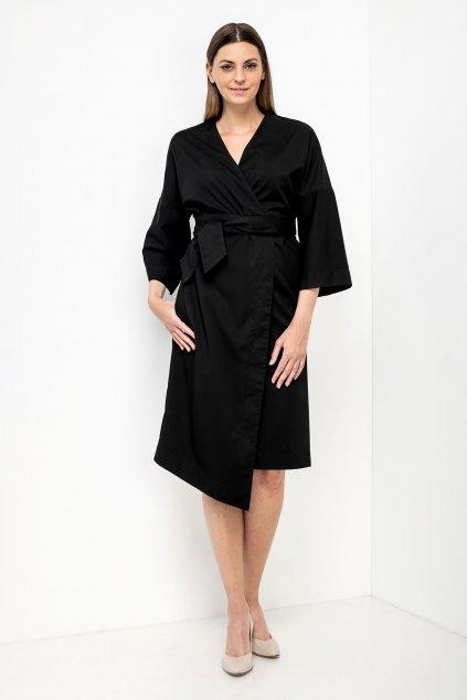 ZIK Kimonové šaty čierne (1)