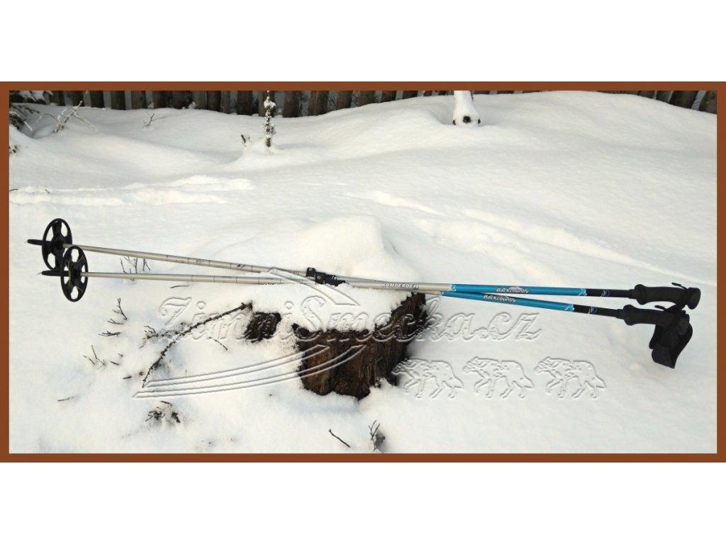 zimní nastavitelné Backcountry hole Komperdell BC Trail Power Lock II