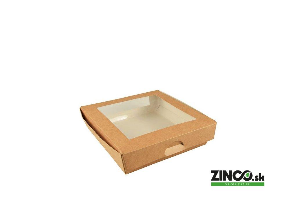 86575 – Krabice na koláče s okienkom, 19x19x5 cm (25 ks)