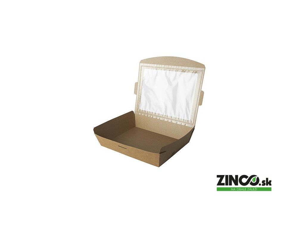 87253 – Krabice na koláče s okienkom, 21x16x4,5 cm