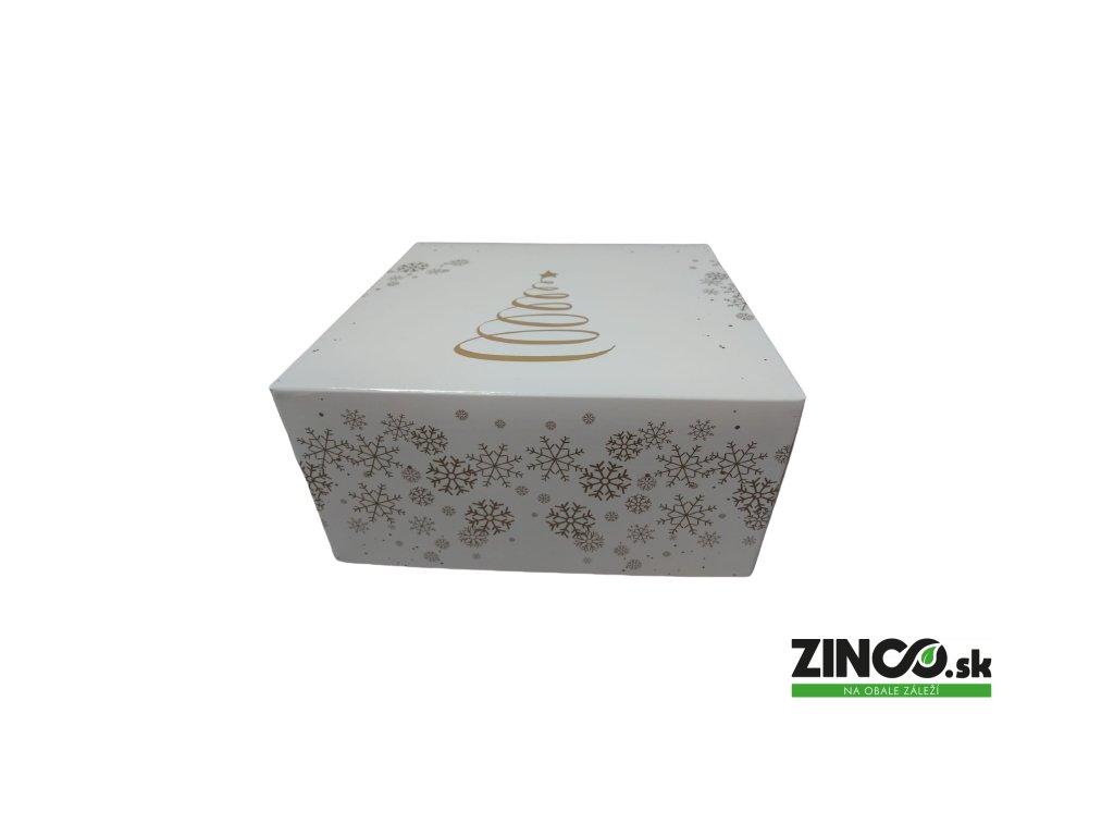 PDBCHO – Krabice na tortu vianočné, 18x18x9 cm (50 ks)