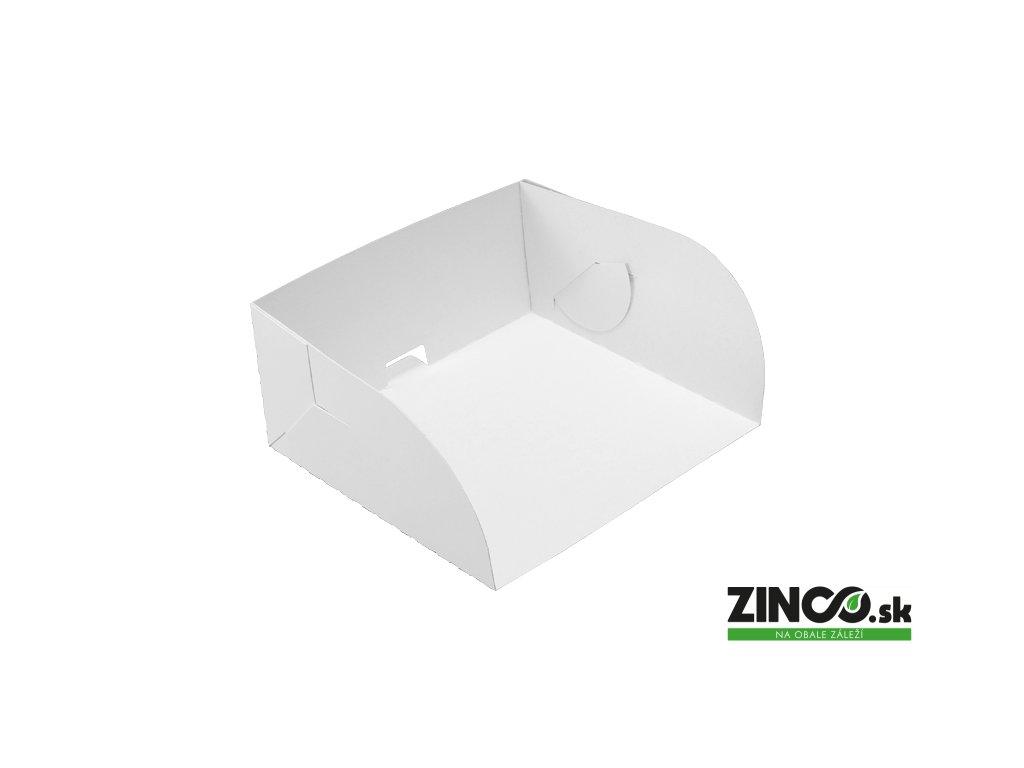 K13/12/6 – Kartónový podnos na tortu a zákusky, 13x12x6 cm (100 ks)