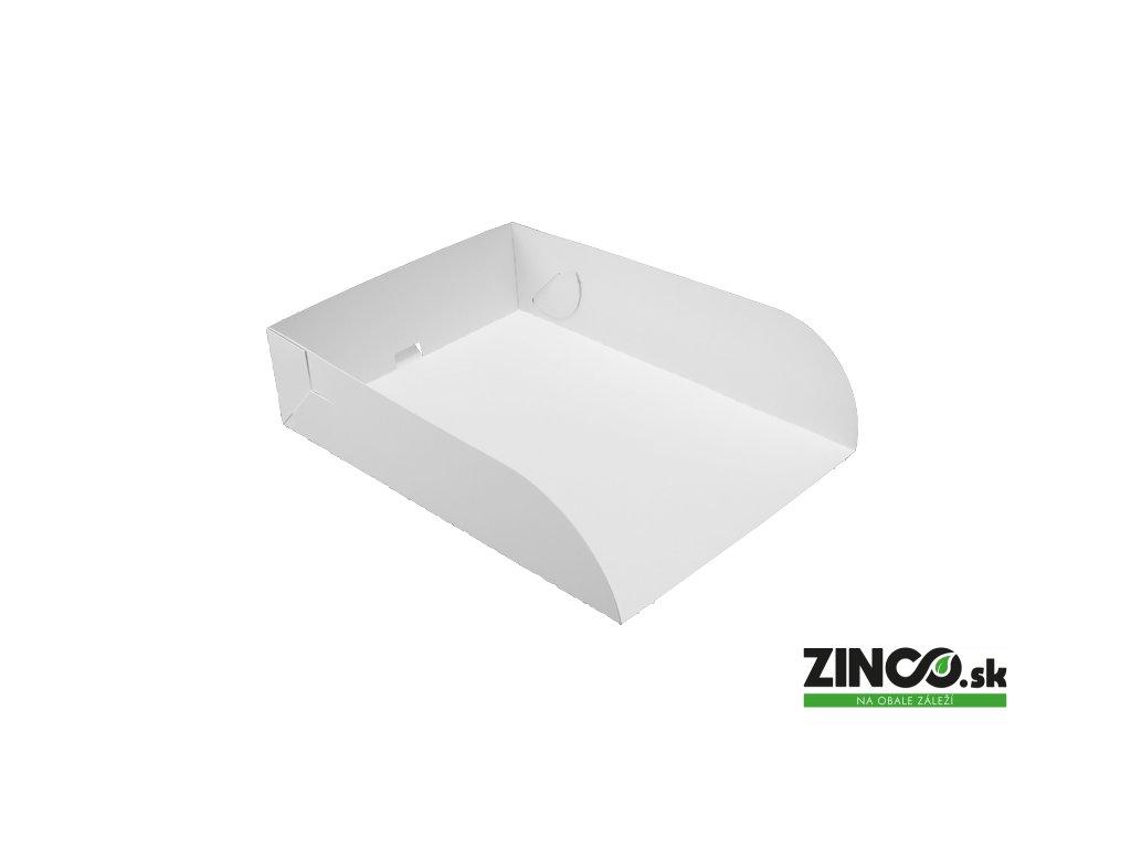 K25/18/6 – Kartónový podnos na tortu a zákusky, 25x18x6 cm (100 ks)