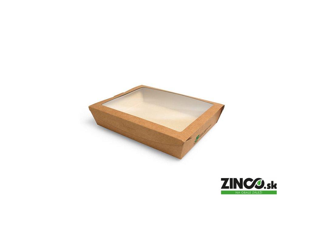 87252 – Krabice na koláče s okienkom, 18x13,5x4,5 cm (40 ks)