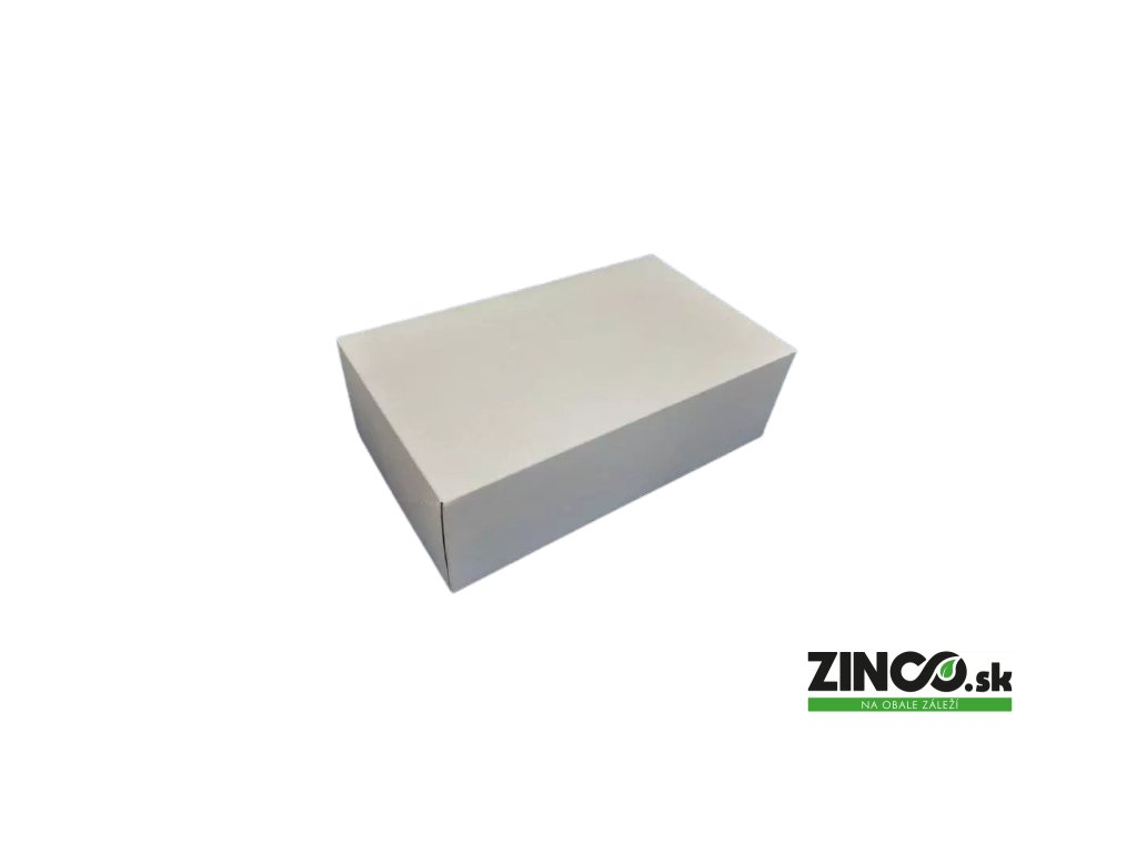 P1127 – Krabice na koláče, 31x22x8 cm (50 ks)