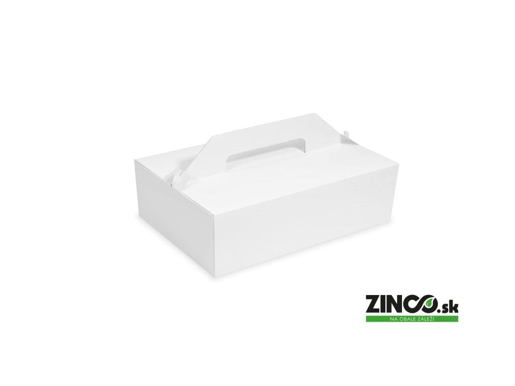 71710 – Krabice na koláče s úchytom, 27x18x10 cm (50 ks)