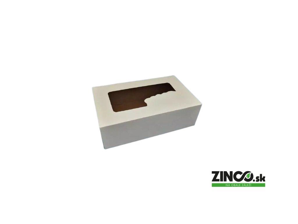 P692 – Krabice na koláče s okienkom, 25x15x8 cm (50 ks)