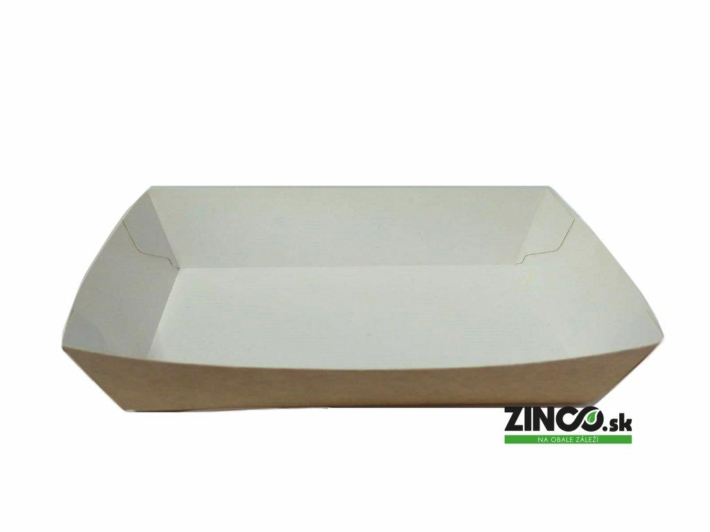 7501583 – Papierová tácka s vyvýšeným okrajom, 15x8,5x3,5 cm