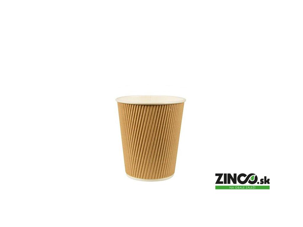 86269 – Papierové poháre na kávu vrúbkované, 100 ml (80 ks)