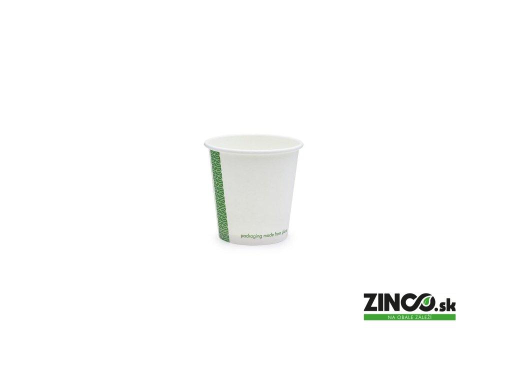 LV-4 – Papierové poháre na kávu biele, 120 ml