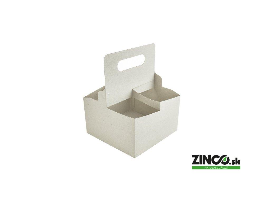 VHC-04 – Kartónový držiak na 4 poháre (200 ks)