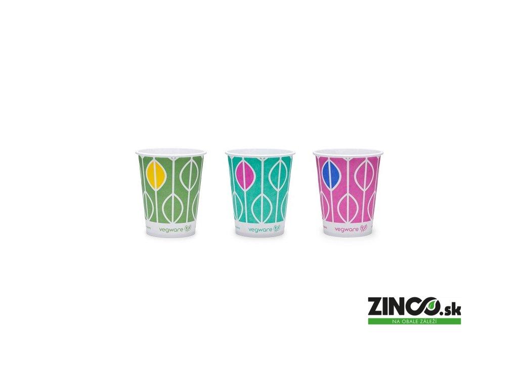 """CV-09 – Papierové poháre s potlačou """"Hawai"""", 270 ml (50 ks)"""
