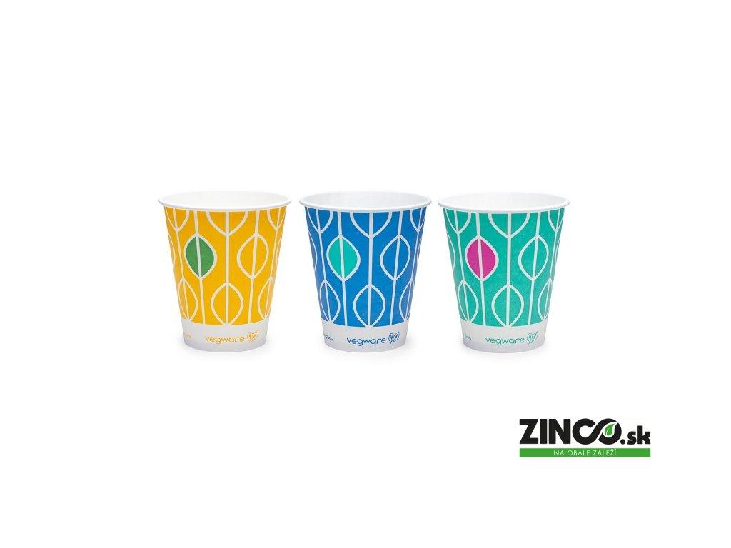 """CV-22 – Papierové poháre s potlačou """"Hawai"""", 600 ml (50 ks)"""
