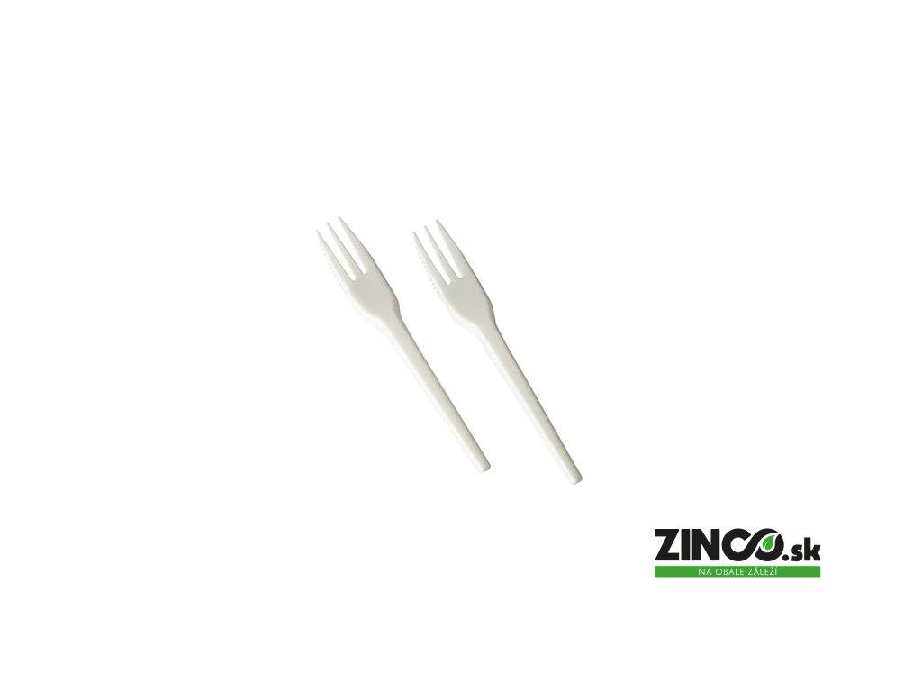 87500 – Bio plastová dezertná vidlička, 13,5 cm