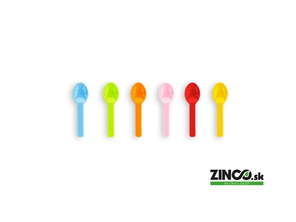 VSP3C – Bio plastové lyžičky na zmrzlinu (mix farieb),