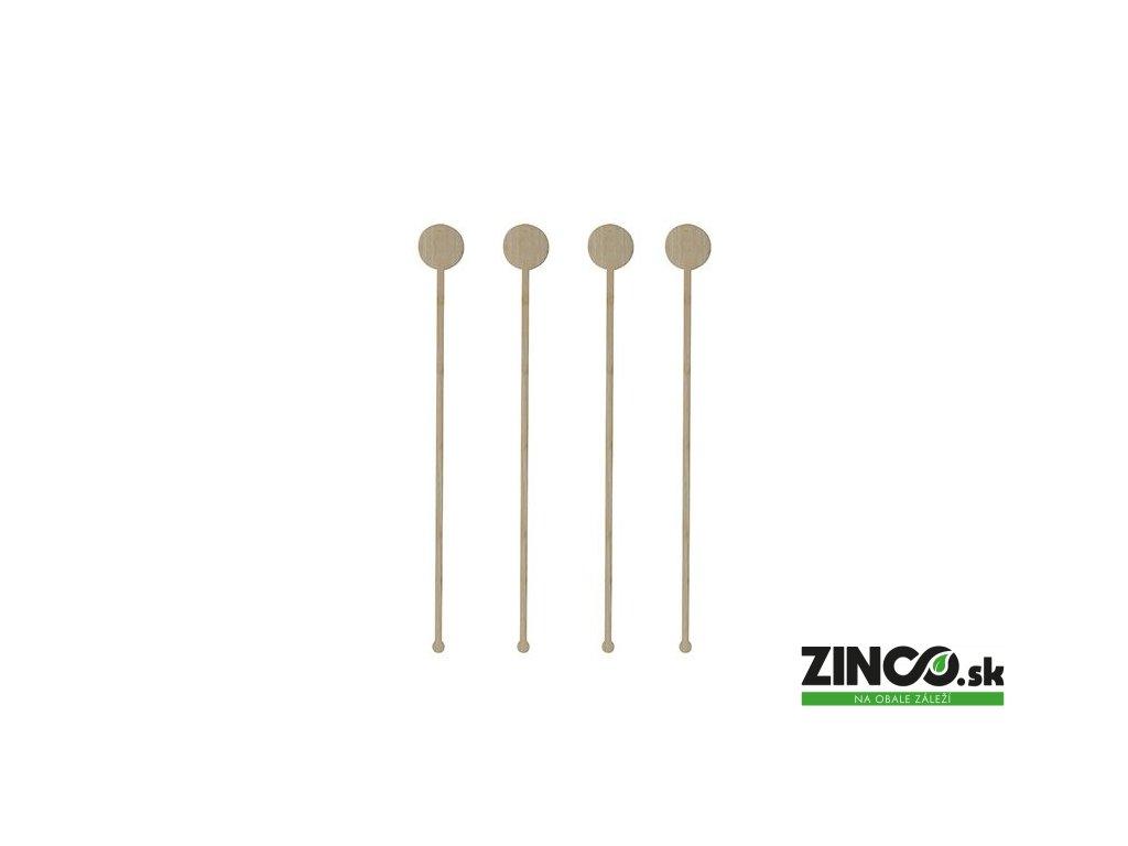 "88232– Ozdobné bambusové miešadlo ""Coin"", 18 cm"