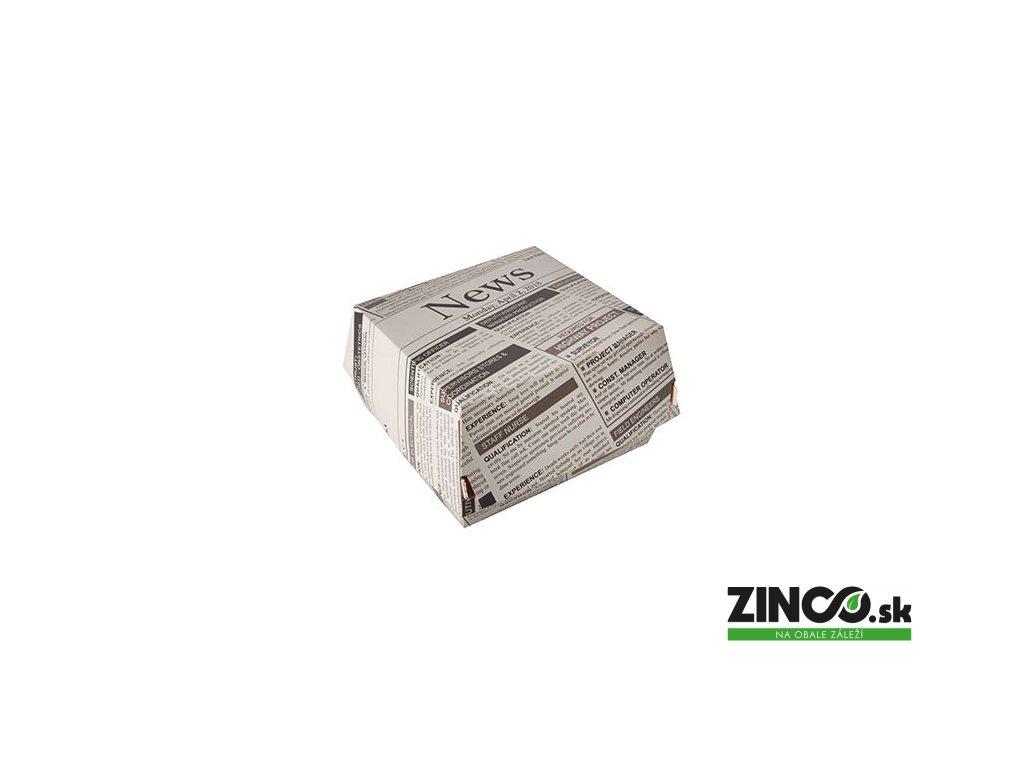 "87521 – Burger box s potlačou ""Newspapers"", papierový"
