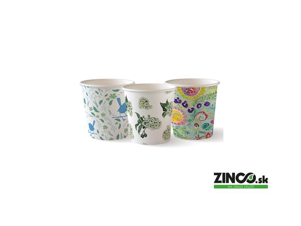 191949 – Papierové poháre na kávu s potlačou, 120 ml (50 ks)