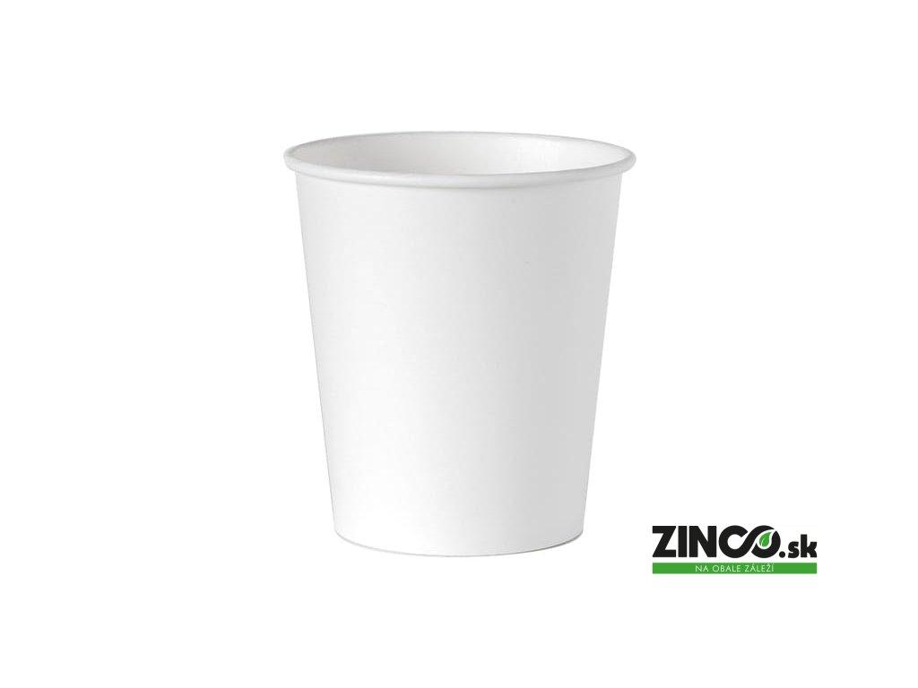 40362 – Papierové poháre na kávu biele, 180 ml (50 ks)