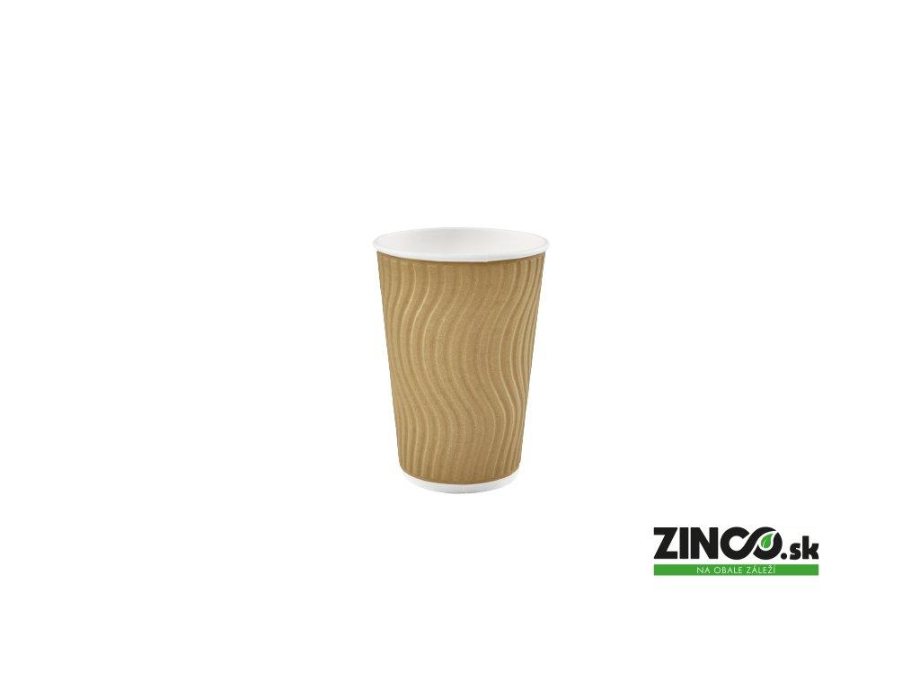CGRVA3670 – Papierové poháre na kávu vrúbkované, 200 ml (50 ks)