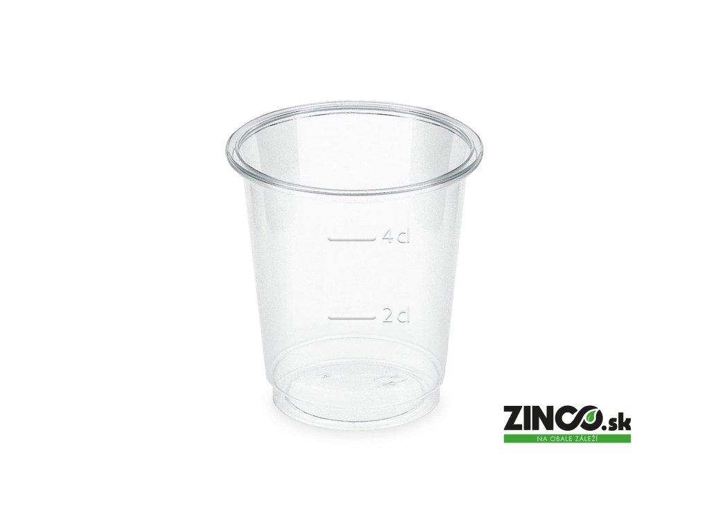 P3040 – Bio plastové poháre na alkohol s ryskou, 40 ml (40 ks)