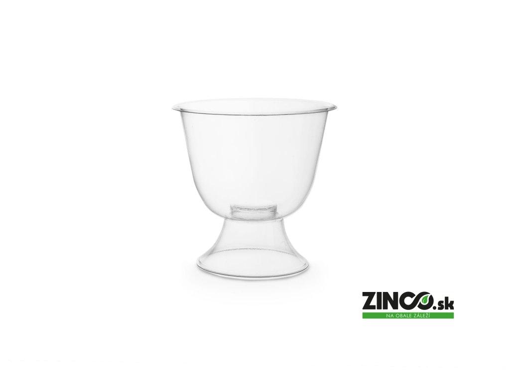 R175W-PLA – Bio plastové poháre na víno, 175 ml (50 ks)