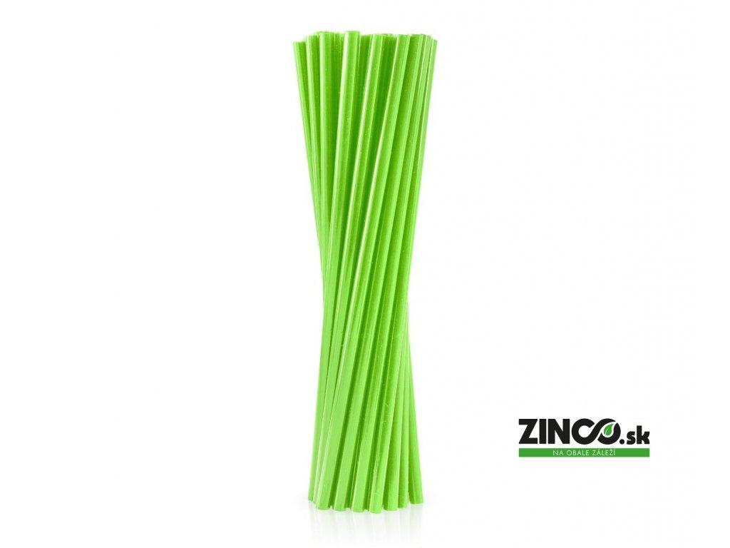 RPB-25ZI – Bio plastové slamky zelené, 8mm (250 ks)