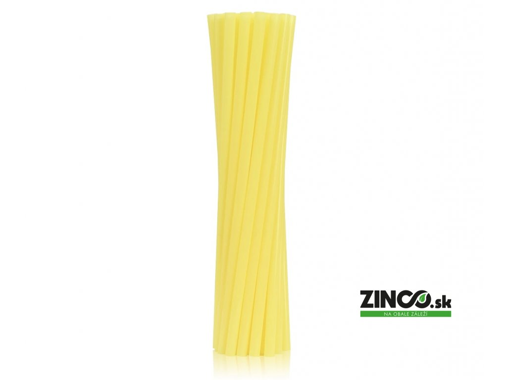 RPB-25ZO – Bio plastové slamky žlté, 8mm (250 ks)