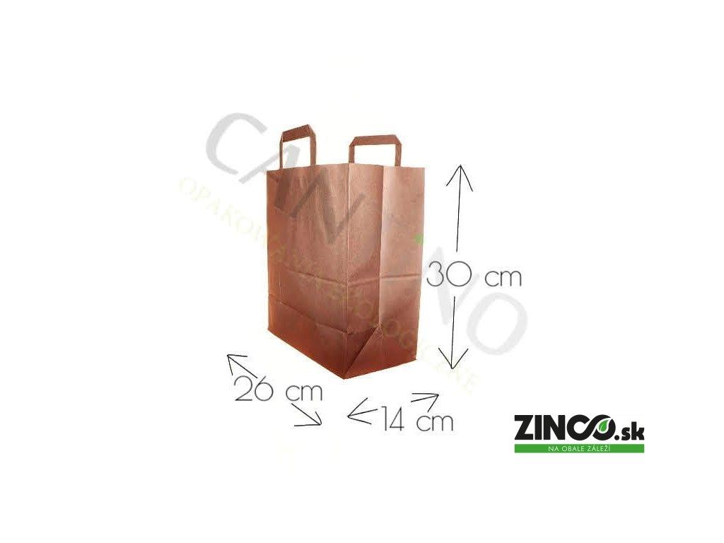 W11CARR – Papierové tašky, 26x14x30 cm (50 ks)
