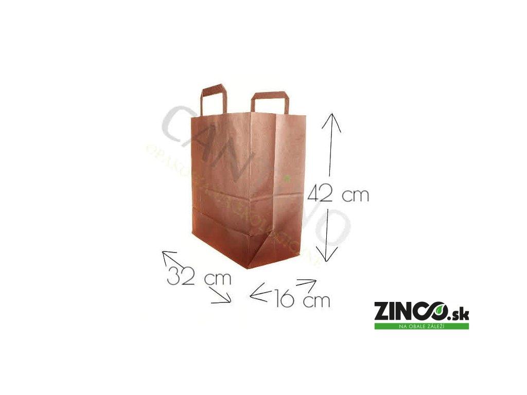 W14CARR – Papierové tašky, 32x16x42 cm (50 ks)